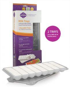 breast milk storage tray